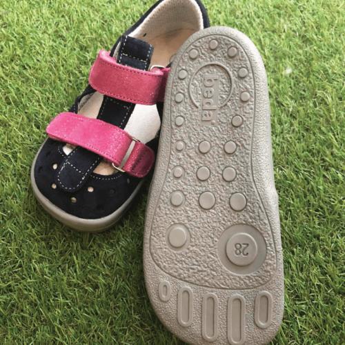 Детски боси сандали Beda - Океански блясък