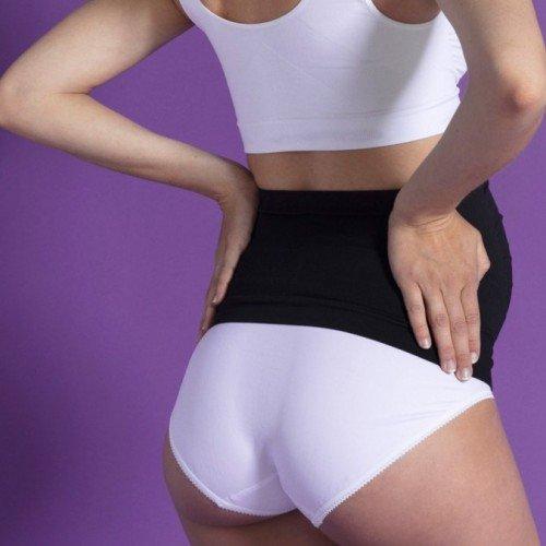 Безшевен колан за бременни - бял цвят